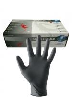 Gants latex chirurgicaux (x100) - 100 Paires de gants en latex noir pour jouer au docteur.