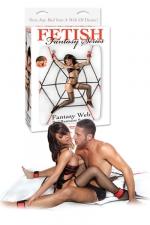 Kit bondage Fantasy Web Bed Restraint System - Une toile d'araignée en cordages et tout le nécessaire pour attacher votre partenaire sur le lit!