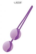 Love balls violet et mauve - Liebe : Boules de geisha 100% silicone Premium, pour renforcer les muscles vaginaux tout en se faisant plaisir en toute discrétion.