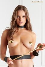 Nippies or - Maison Close : Cache-tétons dorés sensuels de la collection Les Fétiches, nouvel indispensable de votre lingerie fetish et coquine.