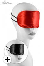 Pack 2 bandeaux Love Masks - Avec ces 2 masques pour jeux BDSM, occultez lui la vue pour exacerber ses sensations.