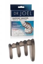 Cockring Support Master triple smooth - Un cockring  extensible et confortable avec 4 anneaux pour soutenir le pénis et les testicules pendant vos ébats amoureux.