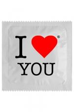 Préservatif humour - I Love You - Préservatif  I Love You ,  un préservatif personnalisé humoristique de qualité, fabriqué en France, marque Callvin.
