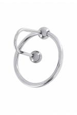 Bouchon d'urètre Sperm Stopper - Bouchon d'urètre et anneau de gland haute qualité, en acier inoxydable, pour amateurs de sensations fortes.